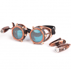 Steampunk / Gothic Welding Goggles with Lights